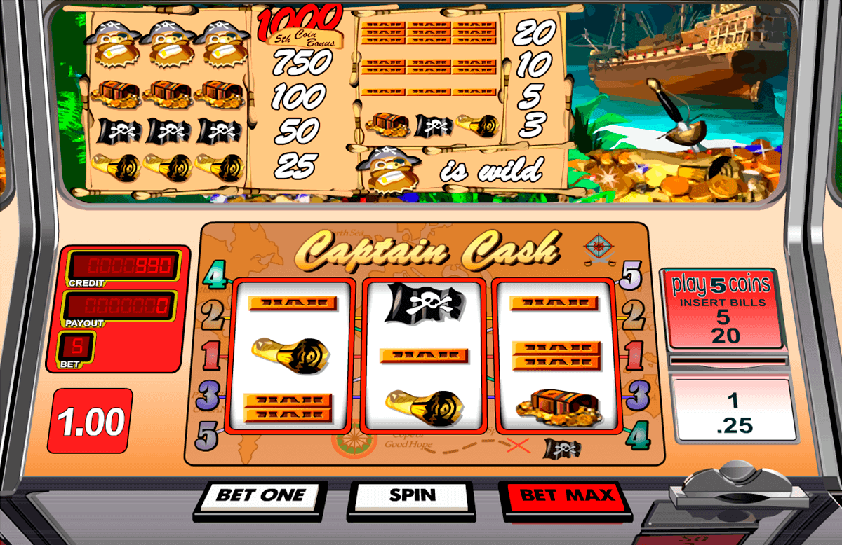 Captain Cash slot gameplay