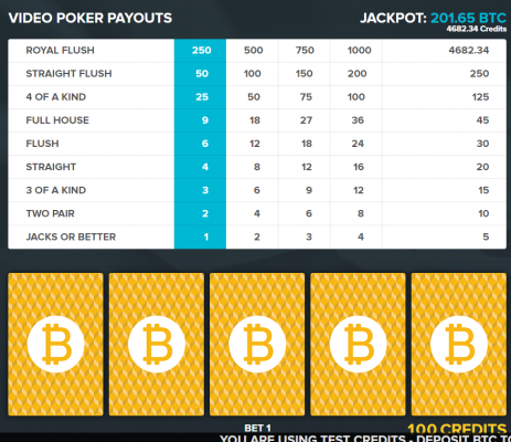 Bitcoin Games casino screenshot 1