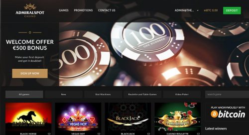 AdmiralSpot casino screenshot 1