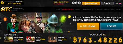 BTC Casino casino screenshot 1