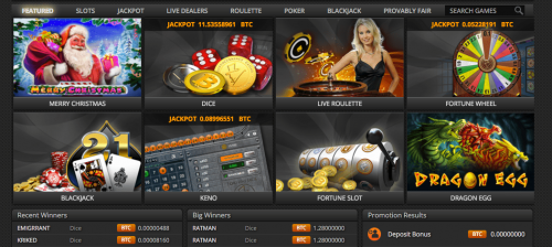 FortuneJack casino screenshot 1