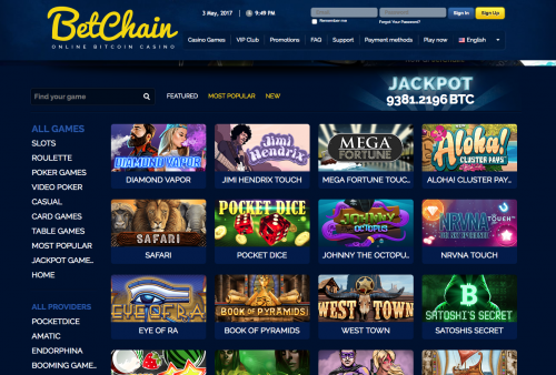 Betchain casino screenshot 1