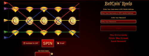 Betcoin.tm casino screenshot 1