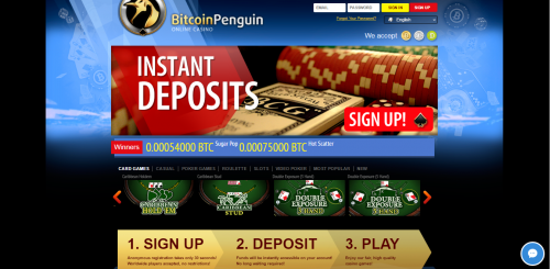 Bitcoin Penguin casino screenshot 1