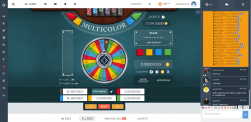 Bitsler casino screenshot 3