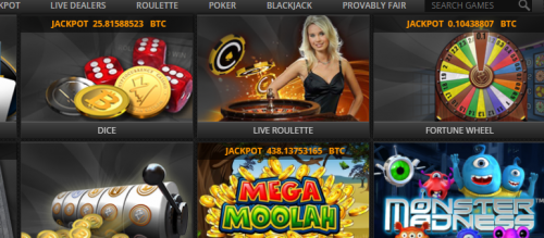 FortuneJack casino screenshot 3