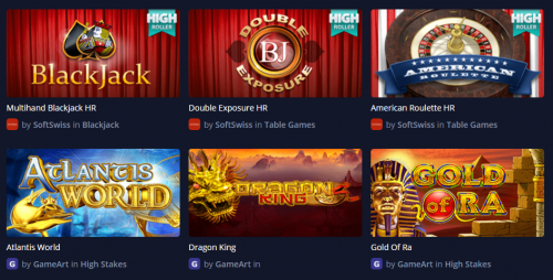 mBit Casino casino screenshot 1