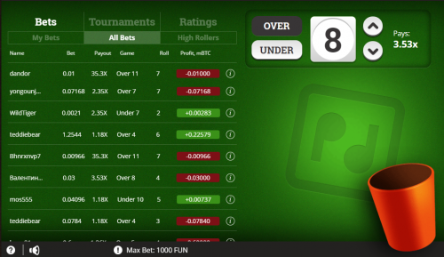 Pocket Dice casino screenshot 3