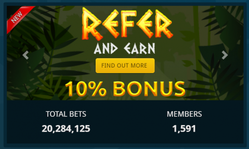 CryptoBetfair casino screenshot 2
