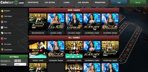 CoinBet24 casino screenshot 3