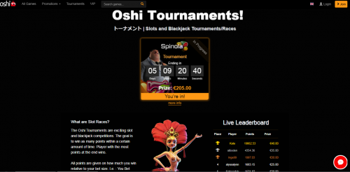 Oshi.io casino screenshot 3
