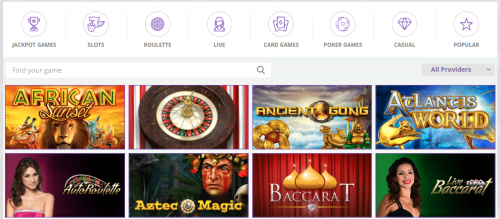 CryptoWild casino screenshot 2