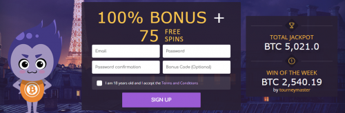 CryptoWild casino screenshot 1