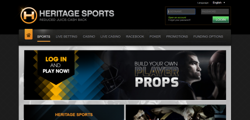 Heritage Sports casino screenshot 2