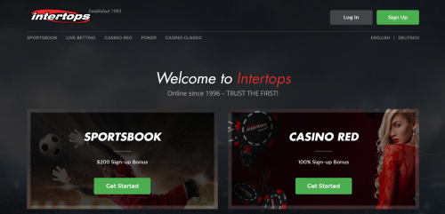 Intertops casino screenshot 1