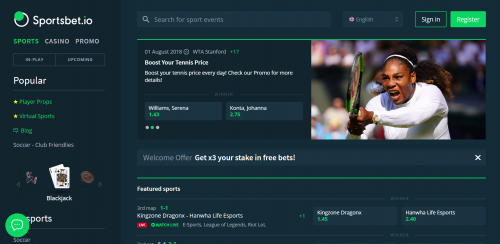 Sportsbet.io casino screenshot 1
