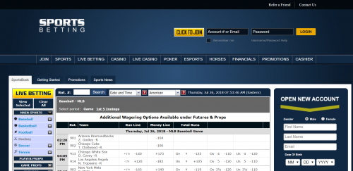 SportsBetting.ag casino screenshot 2