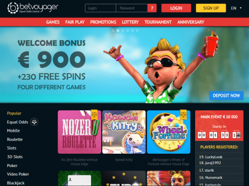 BetVoyager casino screenshot 1