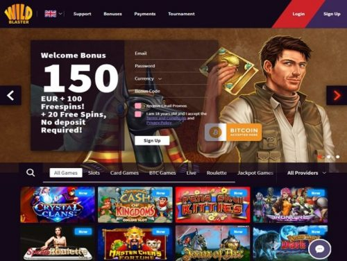 Wildblaster casino screenshot 1