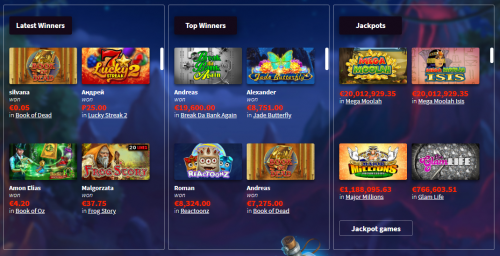 Wildblaster casino screenshot 3