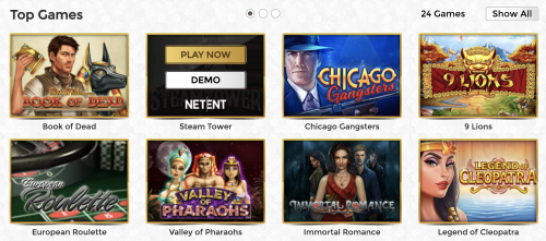 Unique Casino casino screenshot 3