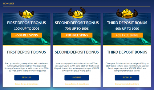 Konung Casino casino screenshot 1