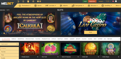 MelBet casino screenshot 3