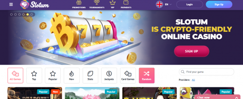 Slotum Casino casino screenshot 2