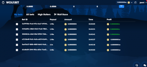 Wolf.Bet casino screenshot 2