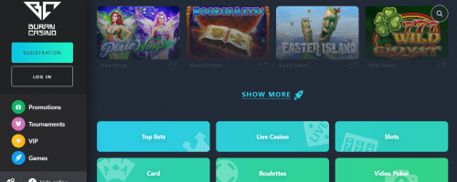 Buran Casino Screenshot 1