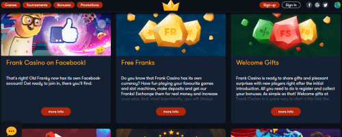 Frankcasino Screenshot 1