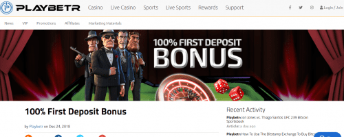 Playbetr Casino Screenshot 1