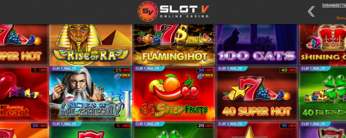 SlotV Casino Screenshot 1