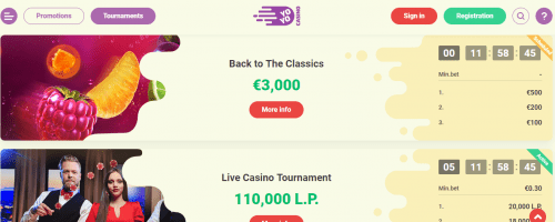 Yoyo Casino Screenshot 1