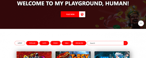 Red Dog Casino Screenshot 1