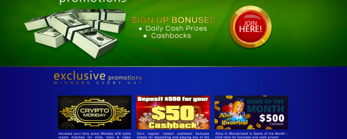 Winaday Casino Screenshot 1