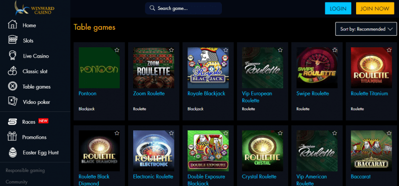 Winward Casino Games