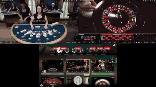 a live dealer game at mBitcasino