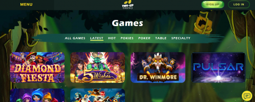Two Up Casino Screenshot 1