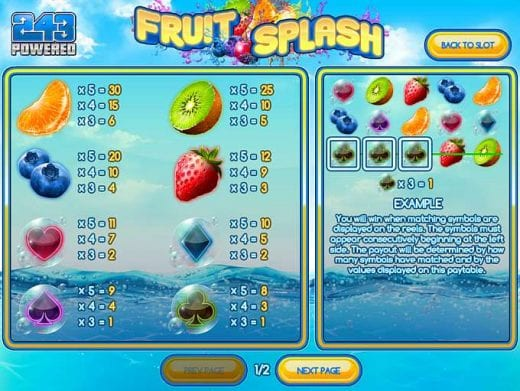 Fruit Splash review