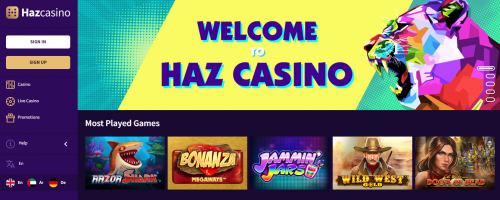 Hazcasino Screenshot 1