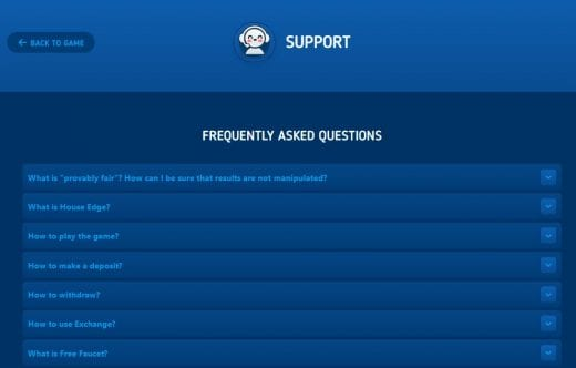 FAQ Section at Luckydice