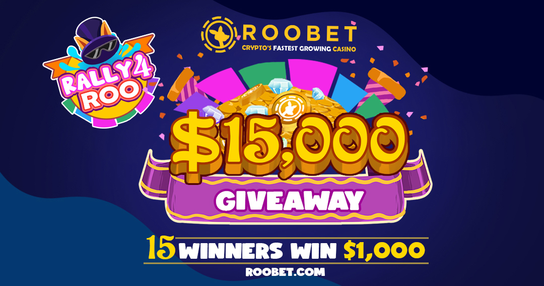 Get Your Share of $15 000 with Roobet's 'RALLY 4 ROO' Giveaway!!