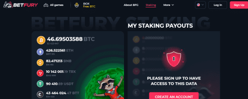 BetFury Screenshot 1